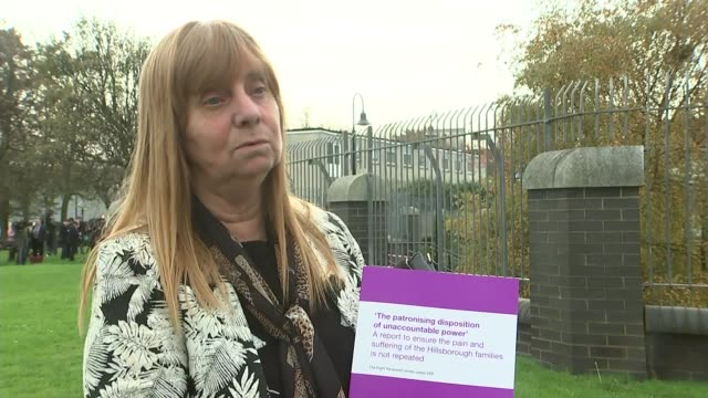 Margaret Aspinall interview ENGLAND Liverpool EXT Margaret Aspinall interview SOT