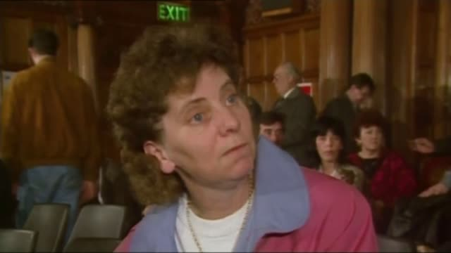 Recommendations of report into treatment of families after the disaster T28039106 / 2831991 Yorkshire Sheffield INT Margaret Aspinall at the original...