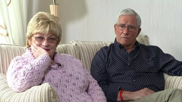vídeos de stock, filmes e b-roll de south yorkshire police faces lawsuit from families of victims int gloria and brian benson interview sot they can rest in peace now - lawsuit