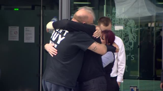 South Yorkshire Police faces lawsuit from families of victims 2642016 Cheshire Warrington People hugging outside inquest after ruling that the 96...