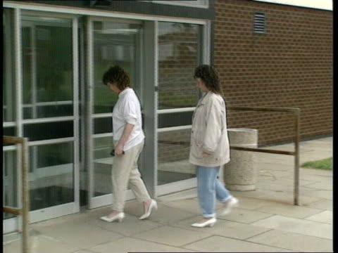 Hillsborough Disaster survivor Gillian Edwards interview ENGLAND Birkenhead EXT Gillian Edwards along with mother to hospital Gillian at work on...