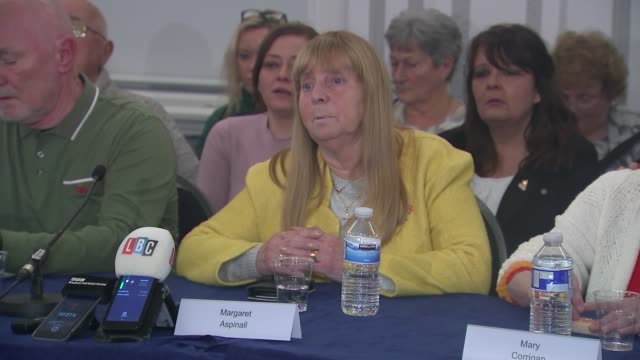 hillsborough family support group press conference england liverpool int hillsborough family support group press conference part 1 of 7 margaret... - legal trial stock videos & royalty-free footage