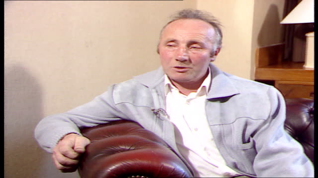 steward jack stone interview england yorkshire sheffield int glen o'glaza intv's jack stone gatekeeper at hillsborough - sheffield stock videos and b-roll footage