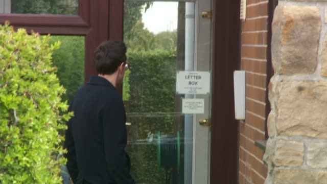 demands for justice for victims / south yorkshire police chief constable suspended reporter talking to paul middup at his front door through intercom... - intercom stock videos and b-roll footage