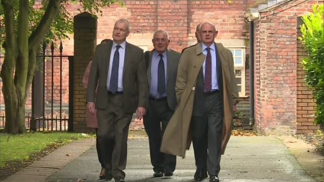 Five men appear in court charged in connection with disaster Cheshire Warrington Warrington Magistrates' Court EXT Donald Denton along with group of...