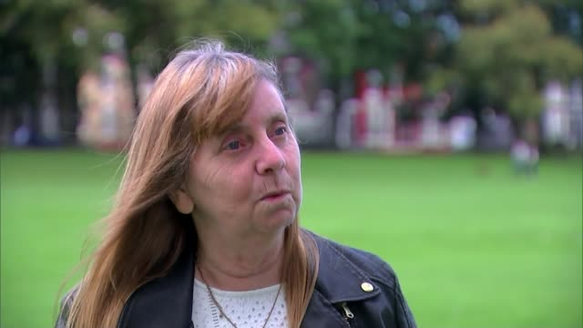 Five men appear in court charged in connection with disaster Merseyside EXT Margaret Aspinall interview SOT/ Warrington Warrington Magistrates' Court...