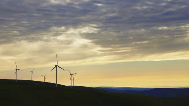 hilltop wind farm - rural scene stock videos & royalty-free footage