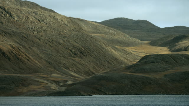 hilly coastline of somerset island canada - northwest passage stock videos and b-roll footage