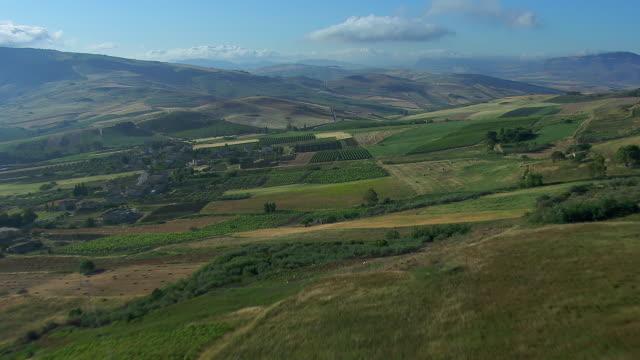 Hilly Farmland In Sicily's Trapani Province