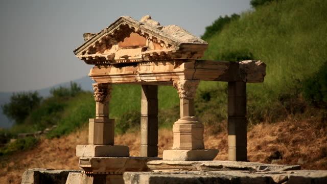 hilly ruins, ephesus, turkey - fronton bildbanksvideor och videomaterial från bakom kulisserna