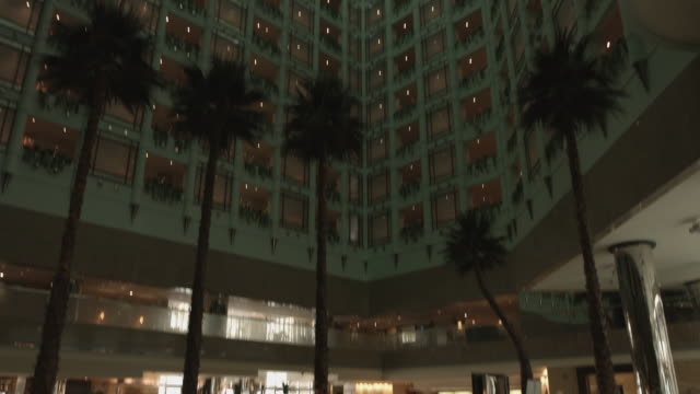 hilton hotel lobby. - jiddah stock videos & royalty-free footage
