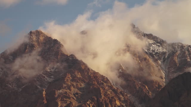 Himalaya ranges covered by thick clouds, India