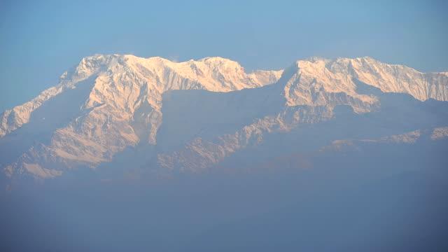himalayan mountains,sarangkot, pokhara, nepal - annapurna range stock videos and b-roll footage