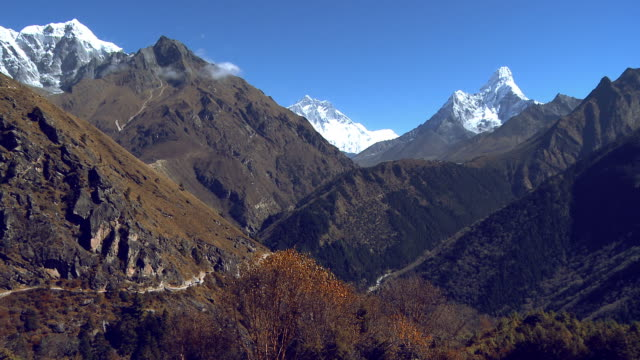 himalayan peaks and valleys panorama. - valley stock videos & royalty-free footage
