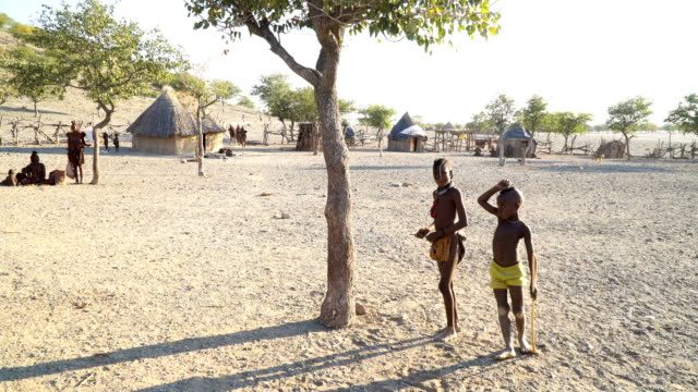 Himba tribe- daily life in the village, Namibia