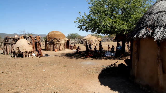 ws himba village - remote location stock videos and b-roll footage