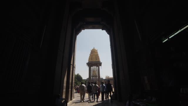 Hindu ancient temple Varadaraja steadicam shot