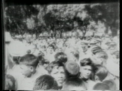 hindu crowds run through the streets of new delphi following the partition of india. lord mountbatten accepts the position of governor general of... - (war or terrorism or election or government or illness or news event or speech or politics or politician or conflict or military or extreme weather or business or economy) and not usa stock videos & royalty-free footage