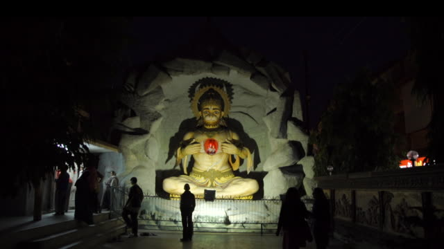 hindu statue at night - india - temple building stock videos & royalty-free footage
