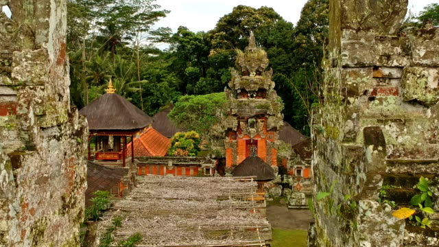 hindu temple in bali, indonesia - bali stock videos & royalty-free footage