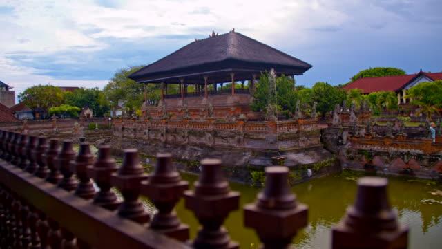 slo mo hindu temple in bali - palace stock videos & royalty-free footage