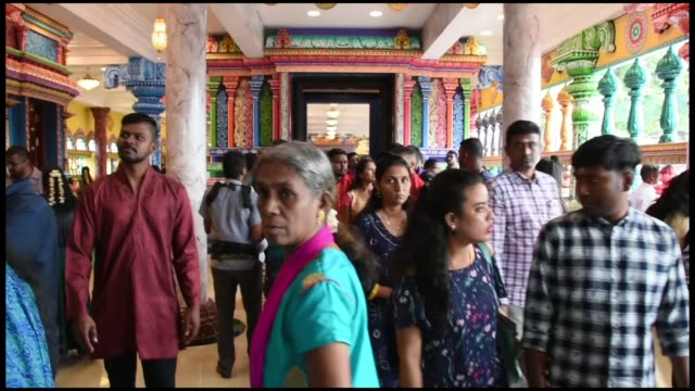 hindus in kuala lumpur gather at batu caves to celebrate the diwali also called 'festival of lights' by holding a religious ceremony in selangor... - evil stock videos and b-roll footage