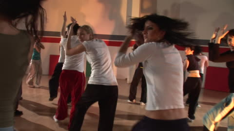 hd steadycam: hip hop dancers - dance studio stock videos & royalty-free footage