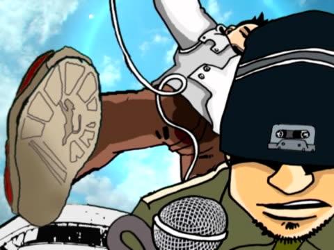 hip-hop-tänzer - mikrofon stock-videos und b-roll-filmmaterial
