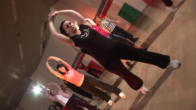 hd steadycam: hip hop dancing class - dance studio stock videos & royalty-free footage