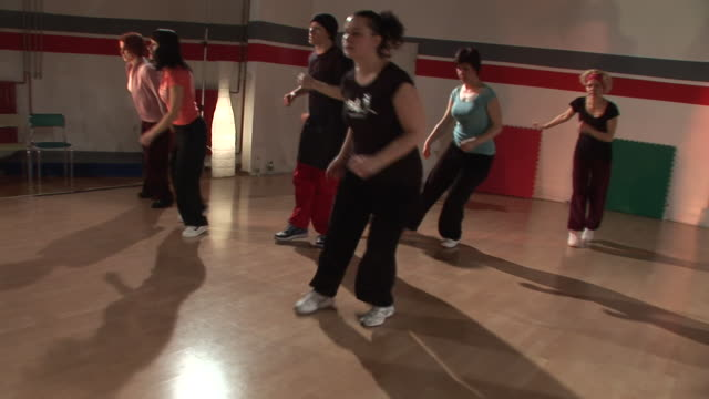 hd steadycam: hip hop dancing - dance studio stock videos and b-roll footage