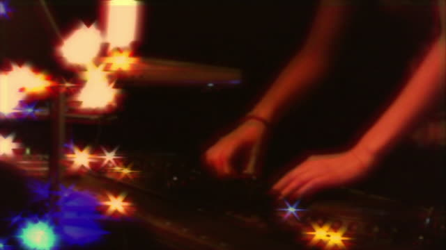 hip hop female dj mixing playing music and dancing. - music video stock videos and b-roll footage