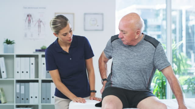hip pain is part of the ageing process - hip stock videos & royalty-free footage