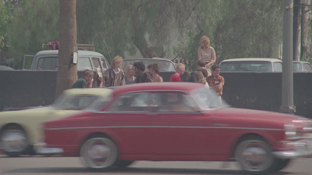 hippies hanging out on street - hippie stock videos & royalty-free footage