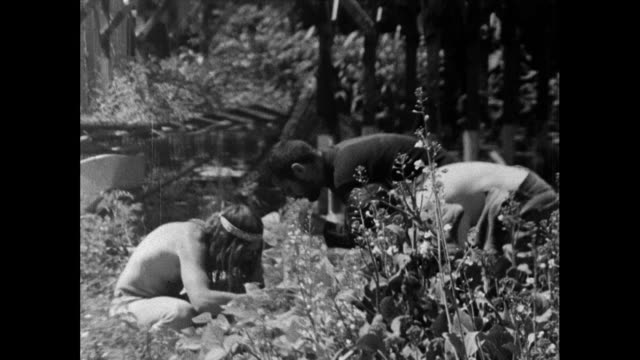 hippies harvest vegetables from a communal garden; 1967 - ranch stock videos & royalty-free footage