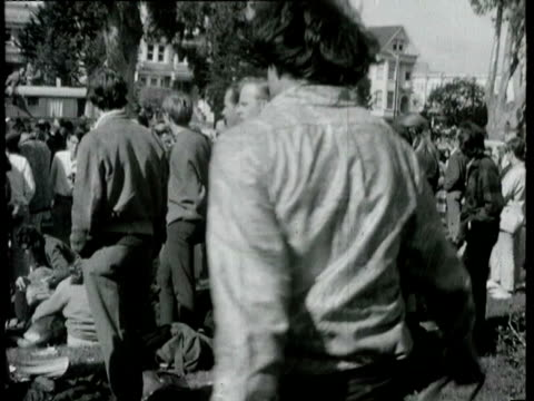 hippies in haight ashbury dancing and listening to the grateful dead band in panhandle park hippies dancing in haight ashbury on april 20 1967 in san... - haight ashbury stock videos & royalty-free footage