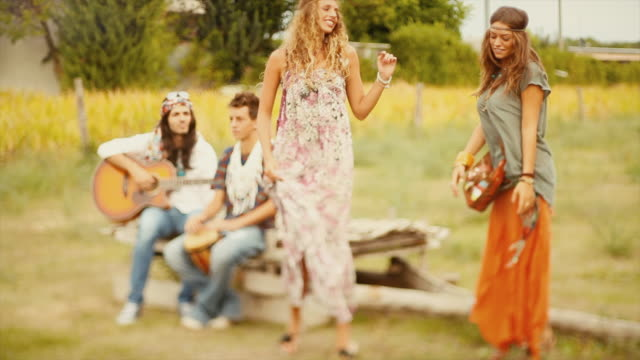 hippies: old fashioned group of friends - 1968 stock videos & royalty-free footage