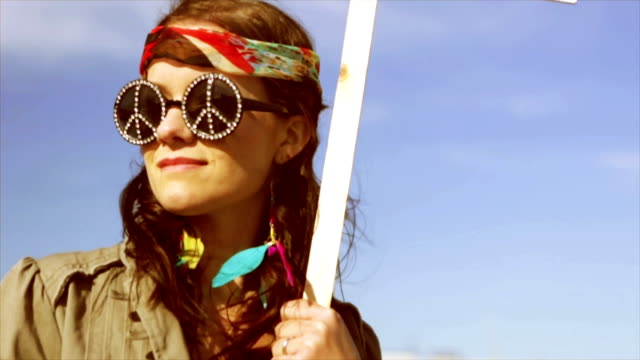 hippy banner  id - hippie stock videos & royalty-free footage