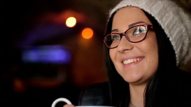hipster girl enjoys her cup of tea - tea hot drink stock videos & royalty-free footage