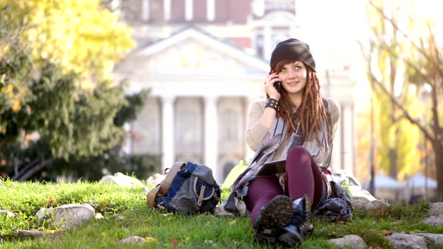 hipster on the phone - rastafarian stock videos and b-roll footage