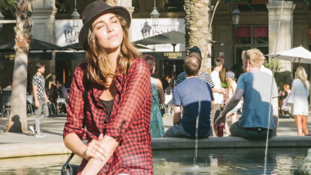 Hipster relaxing on a sunny day