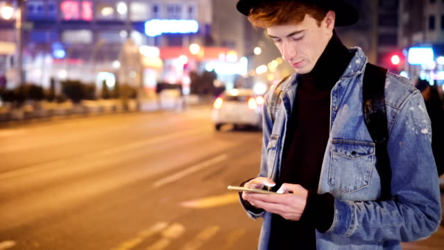 hipster texting messages - redhead stock videos & royalty-free footage