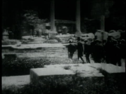 hirohito emperor of japan visiting rome and attending his father's funeral - 1926 stock videos & royalty-free footage