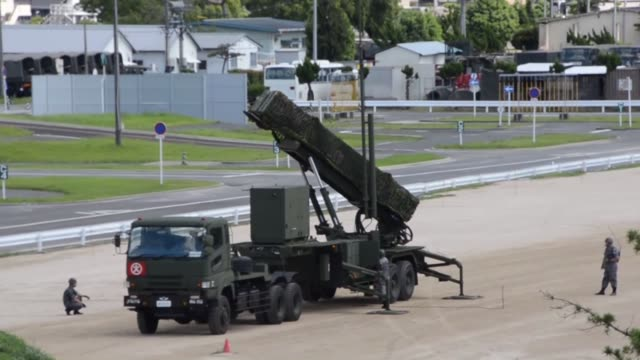 japan finished deploying interceptors on saturday along the possible path of north korean ballistic missiles pyongyang has threatened to launch... - north pacific stock videos & royalty-free footage