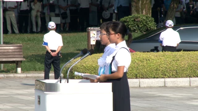 hiroshima marked the 70th anniversary of the us atomic bombing of the city on thursday with mayor kazumi matsui urging world leaders to renew their... - 1980 stock videos & royalty-free footage