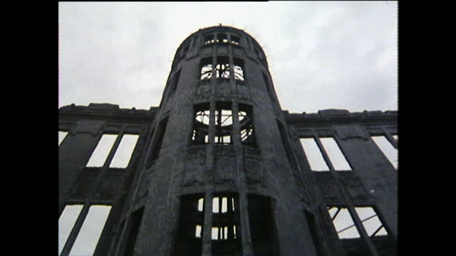 las hiroshima peace memorial ruined structure; 1975 - nuclear bomb stock videos & royalty-free footage