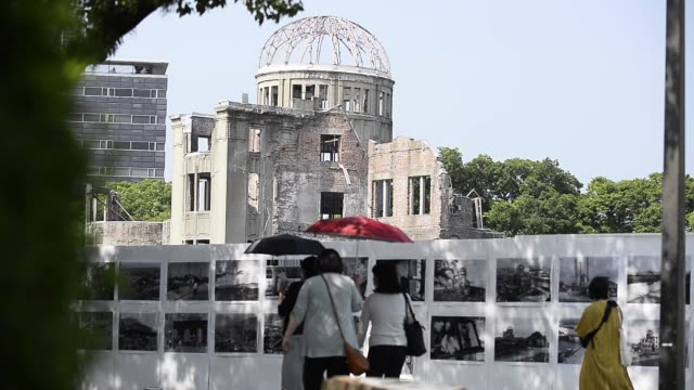 hiroshima prepares to mark the 75th anniversary of the dropping of the atomic bomb by united states airforce on the japanese city on august 05 2020... - 75th anniversary stock videos & royalty-free footage