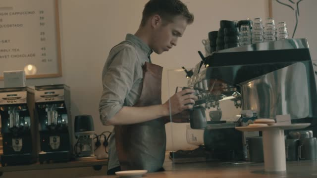 his coffee is his craft - denmark stock videos & royalty-free footage