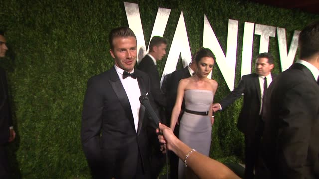 stockvideo's en b-roll-footage met his most memorable part of tonight and being excited to get to the vanity fair party at sunset tower on february 26 2012 in west hollywood california - vanity fair