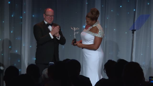 speech his serene highness prince albert ii of monaco at the 2016 princess grace awards gala and queen latifah at the 2016 princess grace awards gala... - cipriani manhattan stock videos & royalty-free footage