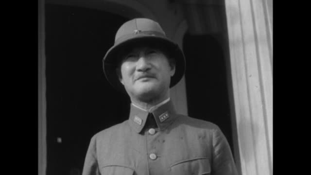 hisaichi terauchi of the japanese imperial army becomes the highest officer of the southern quarters an animated map shows japanese plans to invade... - japanese military stock videos & royalty-free footage